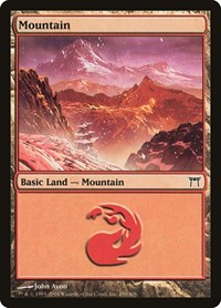 Mountain (299), Magic: The Gathering, Champions of Kamigawa