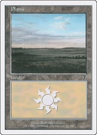Plains (343), Magic: The Gathering, 7th Edition