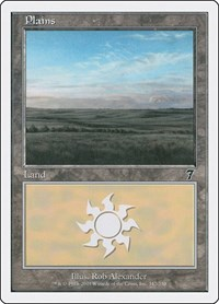Plains (342), Magic: The Gathering, 7th Edition