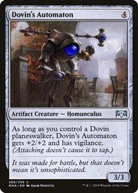 Dovin's Automaton, Magic: The Gathering, Ravnica Allegiance