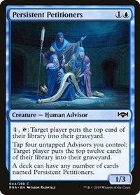 Persistent Petitioners, Magic: The Gathering, Ravnica Allegiance