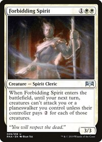 Forbidding Spirit, Magic: The Gathering, Ravnica Allegiance