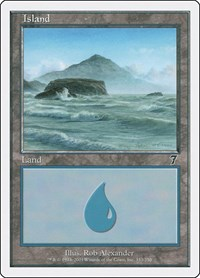 MTG 1x Island//île 7th Edition Nº 333 l/'allemand German FOIL SL *