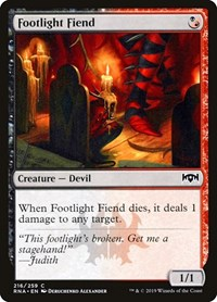 Footlight Fiend, Magic: The Gathering, Ravnica Allegiance