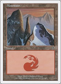 Mountain (337), Magic: The Gathering, 7th Edition