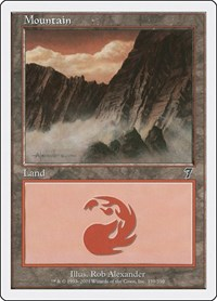 Mountain (339), Magic: The Gathering, 7th Edition