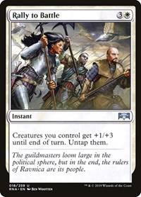 Rally to Battle, Magic: The Gathering, Ravnica Allegiance