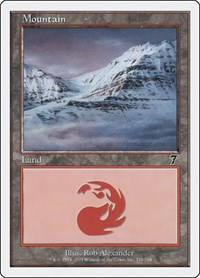 Mountain (338), Magic: The Gathering, 7th Edition