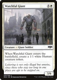 Watchful Giant, Magic: The Gathering, Ravnica Allegiance