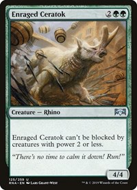 Enraged Ceratok, Magic: The Gathering, Ravnica Allegiance