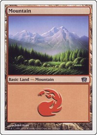 Mountain (343), Magic: The Gathering, 8th Edition