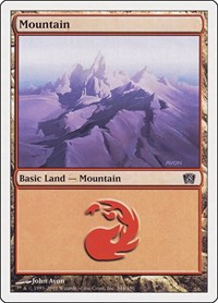 Mountain (344), Magic: The Gathering, 8th Edition