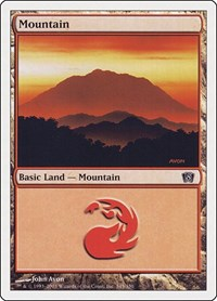 Mountain (345), Magic: The Gathering, 8th Edition