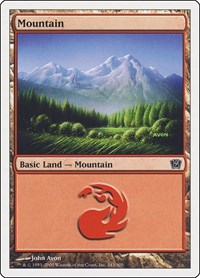 Mountain (343), Magic: The Gathering, 9th Edition