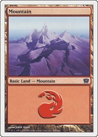 Mountain (344), Magic: The Gathering, 9th Edition