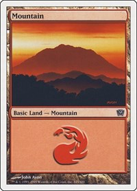 Mountain (345), Magic: The Gathering, 9th Edition