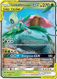 Celebi & Venusaur GX, Pokemon, SM - Team Up