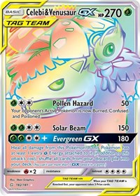 Celebi & Venusaur GX (Secret), Pokemon, SM - Team Up