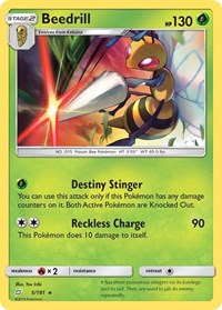 Beedrill, Pokemon, SM - Team Up