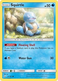 Squirtle (22), Pokemon, SM - Team Up