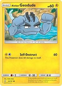 Alolan Geodude (34), Pokemon, SM - Team Up