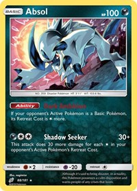 Absol, Pokemon, SM - Team Up