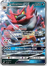 Incineroar GX, Pokemon, SM - Team Up