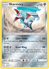 Skarmory, Pokemon, SM - Team Up