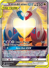 Latias & Latios GX (Alternate Full Art), Pokemon, SM - Team Up