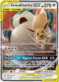 Eevee & Snorlax GX, Pokemon, SM - Team Up