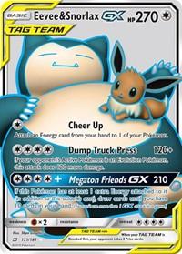 Eevee & Snorlax GX (Full Art), Pokemon, SM - Team Up
