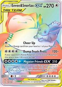 Eevee & Snorlax GX (Secret), Pokemon, SM - Team Up