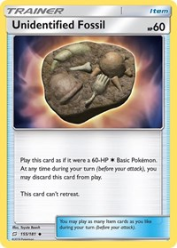 Unidentified Fossil, Pokemon, SM - Team Up