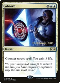 Absorb, Magic: The Gathering, Prerelease Cards