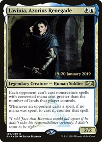 Lavinia, Azorius Renegade, Magic: The Gathering, Prerelease Cards