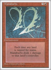 Manabarbs, Magic: The Gathering, Fourth Edition