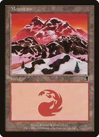 Mountain (344), Magic: The Gathering, Odyssey