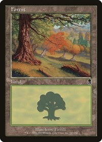 Forest (349), Magic: The Gathering, Odyssey