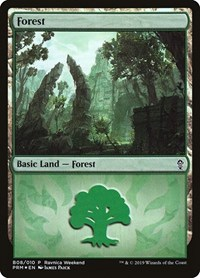 Forest - Gruul (B08), Magic: The Gathering, Launch Party & Release Event Promos