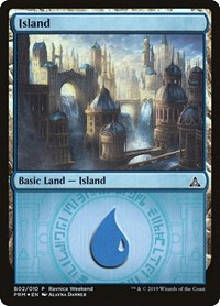 Island - Azorius (B02), Magic: The Gathering, Launch Party & Release Event Promos