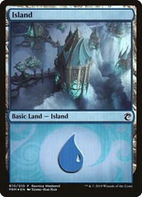 Island - Simic (B10), Magic: The Gathering, Launch Party & Release Event Promos