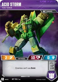 Acid Storm - Toxic Terror, Transformers TCG, Rise of the Combiners