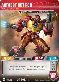 Autobot Hot Rod - Impulsive Fighter, Transformers TCG, Rise of the Combiners