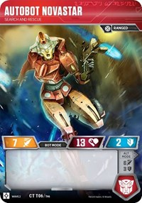 Autobot Novastar - Search and Rescue, Transformers TCG, Rise of the Combiners