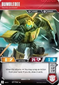 Bumblebee - Trusted Lieutenant, Transformers TCG, Rise of the Combiners