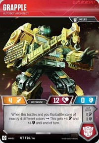 Grapple - Autobot Architect, Transformers TCG, Rise of the Combiners