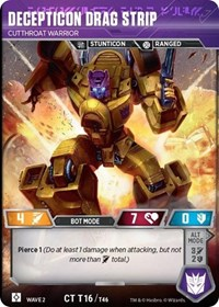 Decepticon Drag Strip - Cutthroat Warrior, Transformers TCG, Rise of the Combiners