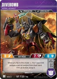 Divebomb - Aerial Assualt, Transformers TCG, Rise of the Combiners