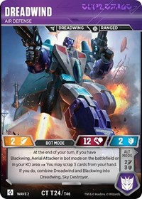Dreadwind - Air Defense, Transformers TCG, Rise of the Combiners