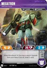 Megatron - Arrogant Ruler, Transformers TCG, Rise of the Combiners